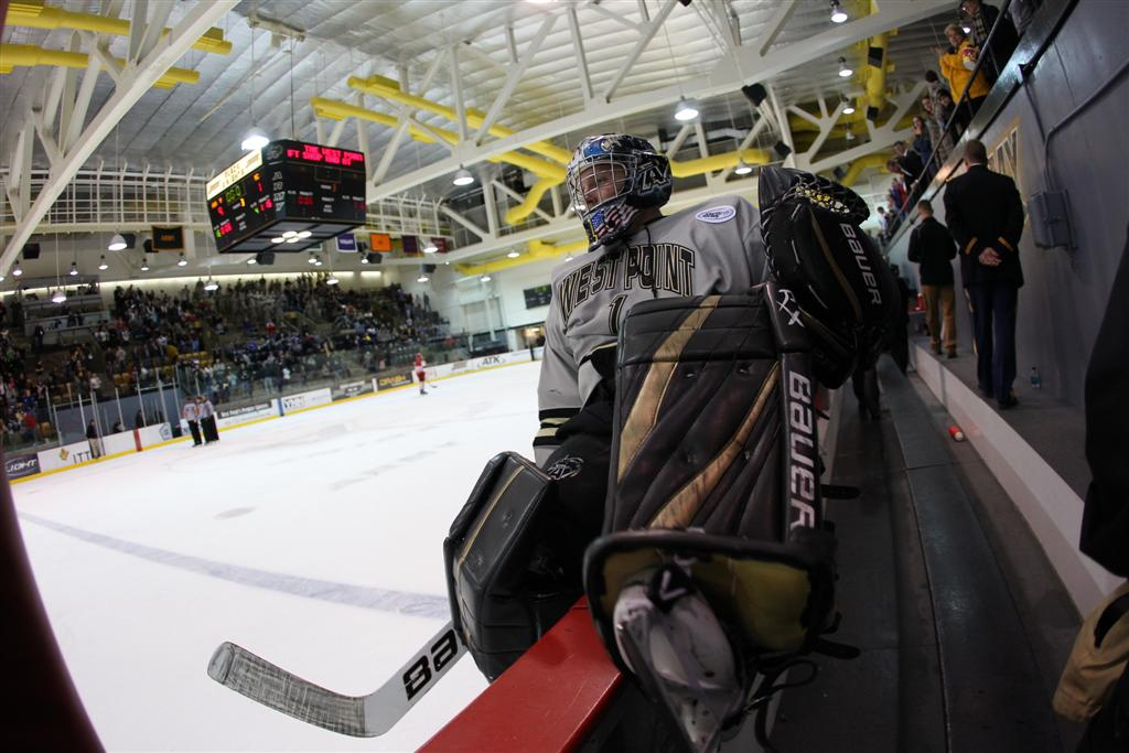 Lapeer East graduate Robert Tadazak is a sophomore on the Army hockey team.