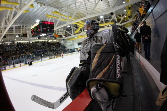 Lapeer East graduate Robert Tadazak is a sophomore on the Army hockey team.