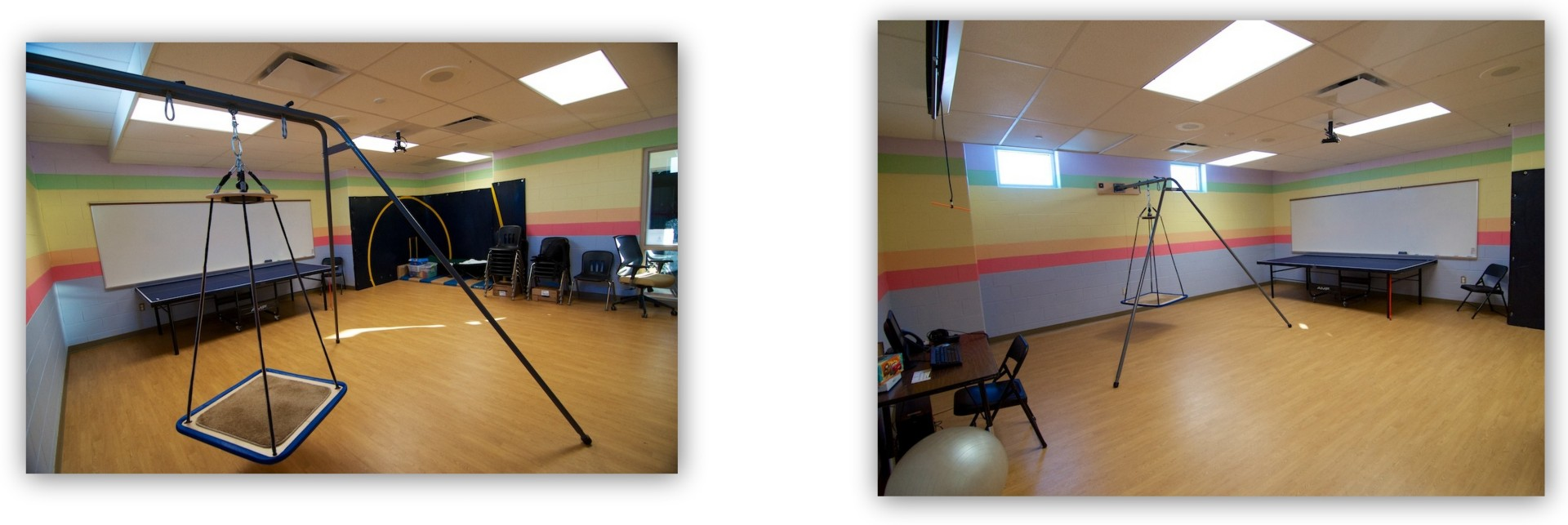 Then new-and-improved sensory/stress-release room at Zemmer Middle School