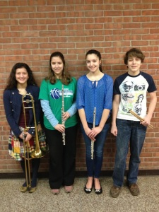 Left to right: Marissa Pruitt, Hannah Roberts, Angela Vial, and Zildjian Vanbrocklin.