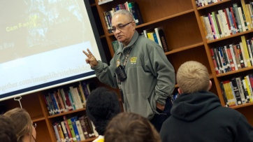 John Gonzales, dean at Lapeer East, speaks about his experience as a soldier in Vietnam.
