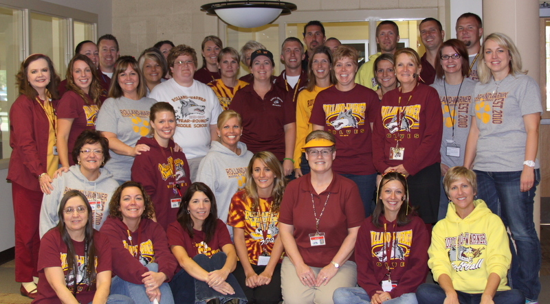 Rolland-Warner Middle School staff.