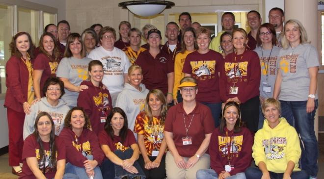 Rolland-Warner Middle School staff.