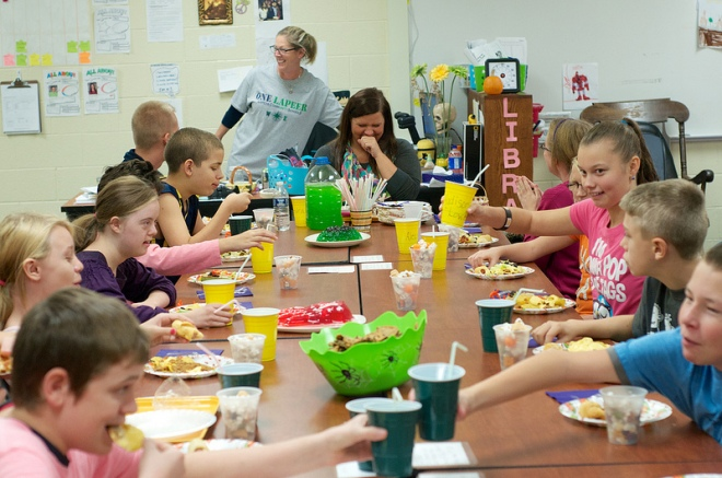 The 2013 CILC Halloween Feast at Zemmer Middle School