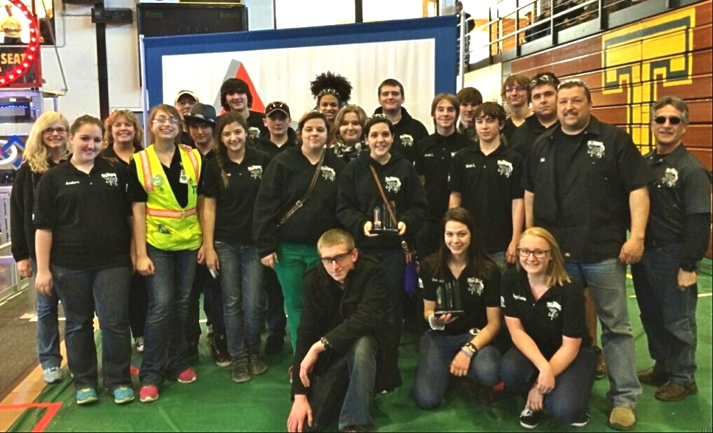 The Lapeer Chimeras, Team 1684, winners of the Excellence in Engineering award in Traverse City. (Photo: Elizabeth Lowe)