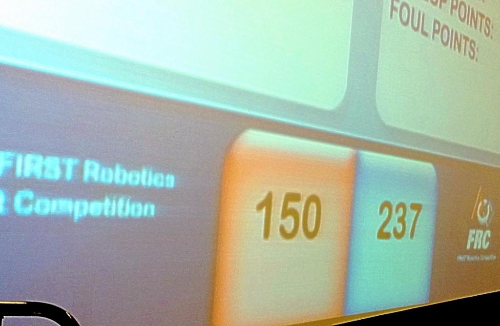 Chimeras Robotics rematch scoreboard - Lansing