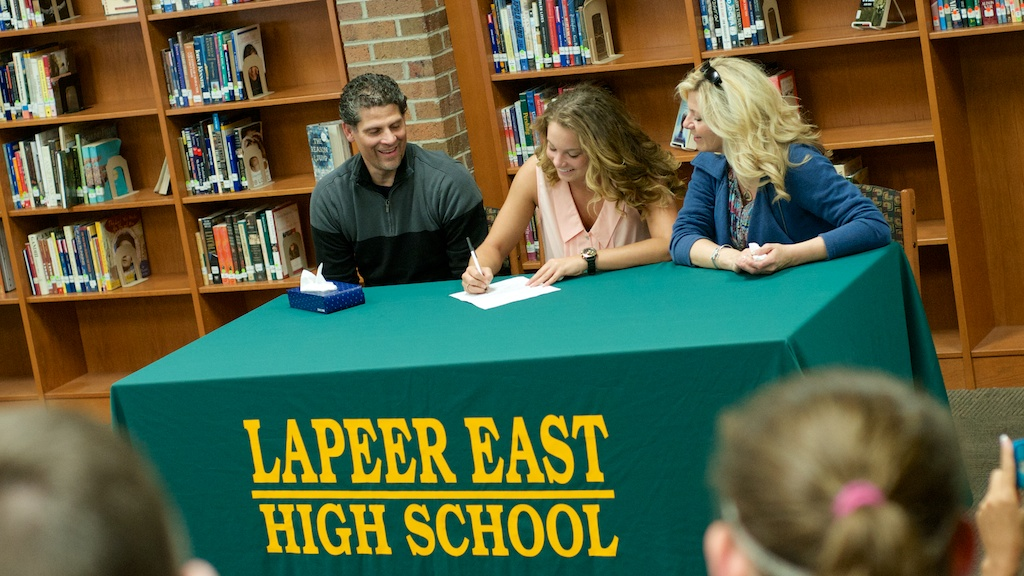 East senior Angela Ciaravino made her commitment to Oakland University official on Wednesday afternoon.