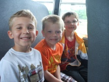 Field trip on bus