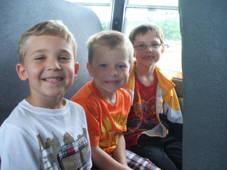 Field trip on bus