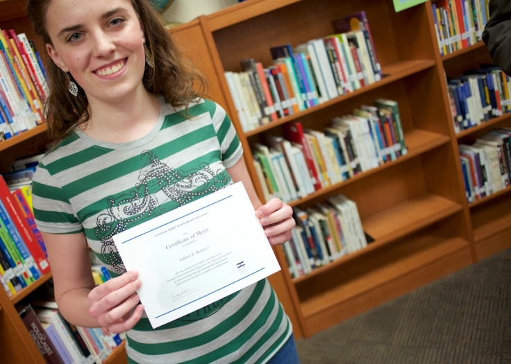 LHS senior Aubrey Bourret is a National Merit Scholarship Finalist. She is among the top one percent of all high-achieving high school students in the country. She will attend BYU in the fall.