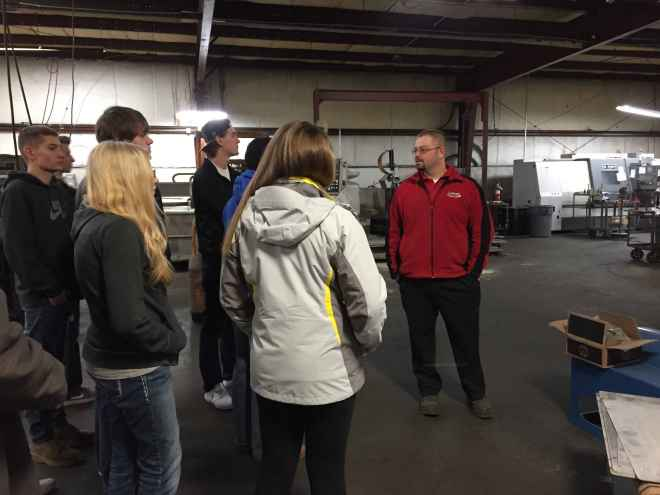 Mike Morris, CEO and President of Lumco Manufacturing, took some time to talk to LHS students about what it takes to be an engineer.