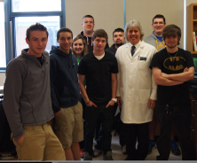 Dr. Kenneth Burns, a professor from Baker College, pictured several LHS students enrolled in the College on Campus program.