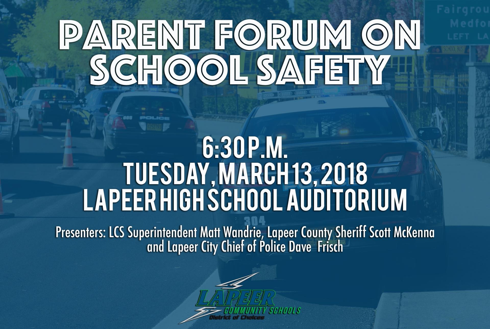 school safety forum